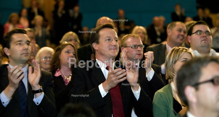 David Cameron in the audience, Conservative Party Conference 2008 Birmingham. - John Harris - 2008-09-28