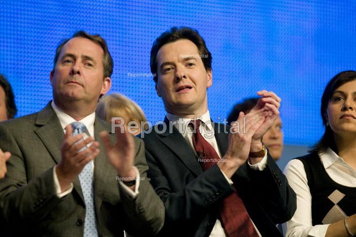 Liam Fox and George Osborne Conservative Party Conference 2008 Birmingham. - John Harris - 2008-09-28