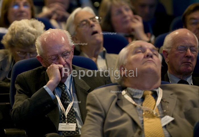 Delegates sleeping through the presentations of the policy plan, Conservative Party Conference 2008 Birmingham. - John Harris - 2008-09-28