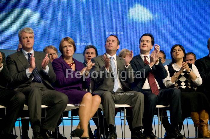 Andrew Lansley, Caroline Spelman, Liam Fox, George Osborne, Sayeeda Warsi Conservative Party Conference 2008 Birmingham. - John Harris - 2008-09-28