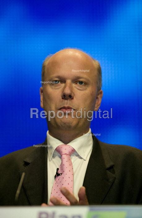 Chris Grayling MP speaking Conservative Party Conference 2008 Birmingham. - John Harris - 2008-09-30