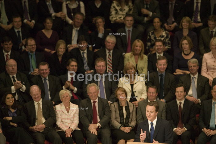 David Cameron speaking at the end of the Conservative Party Conference 2008 Birmingham. - John Harris - 2008-10-01