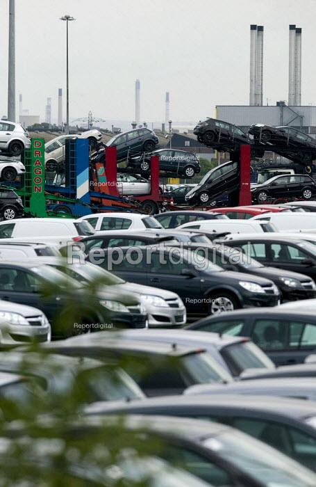 New cars. Vauxhall Ellesmere Port factory. - John Harris - 2008-09-23