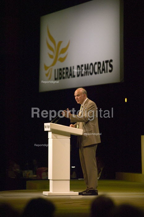 Vincent Cable MP, Liberal Democrat Conference. - John Harris - 2008-09-15
