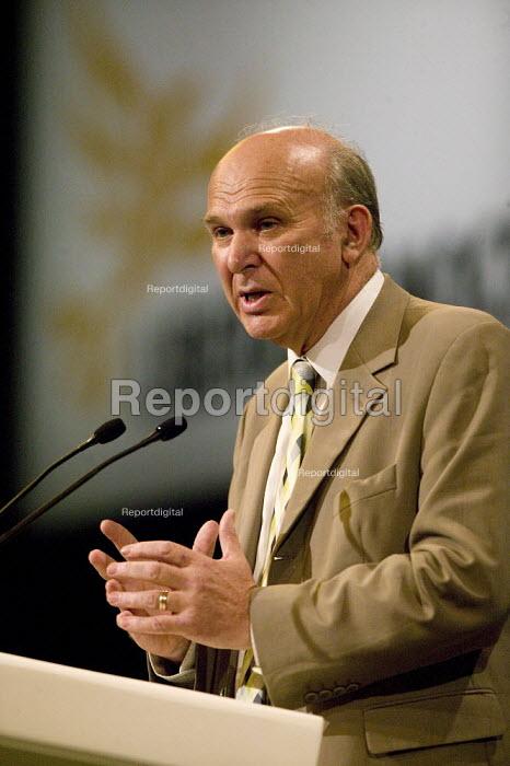 Vincent Cable MP, Liberal Democrat Conference. - John Harris - 2008-09-15