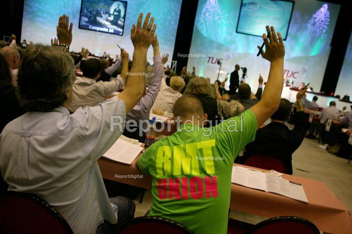 RMT delegation voting, TUC Congress 2008 - John Harris - 2008-09-09
