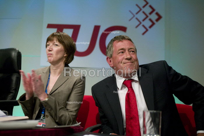 Frances O'Grady TUC and John Denham MP, TUC Congress 2008 - John Harris - 2008-09-09