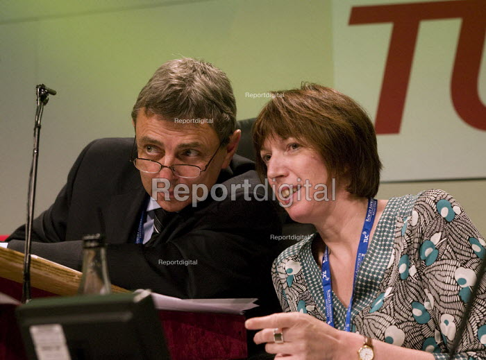 Dave Prentis Unison and Frances O'Grady TUC Congress 2008 - John Harris - 2008-09-10