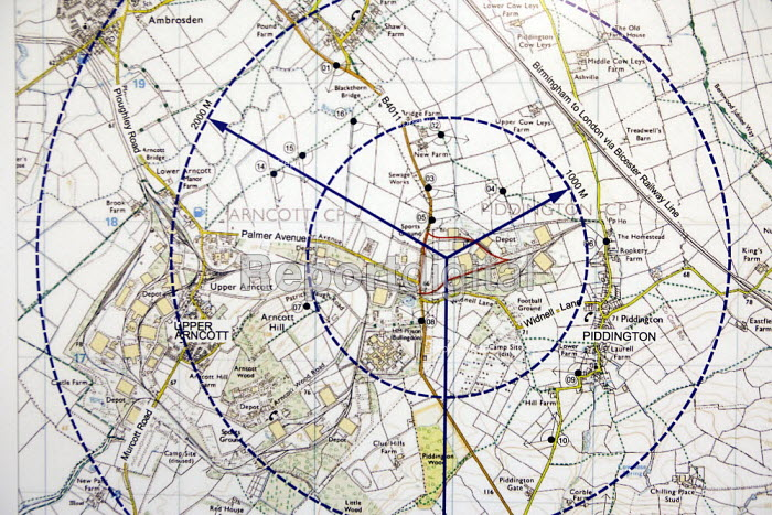 Map of site A, DSDC Bicester proposed site of Bullingdon Immigration Removal Centre, UK Border Agency. - John Harris - 2008-10-27