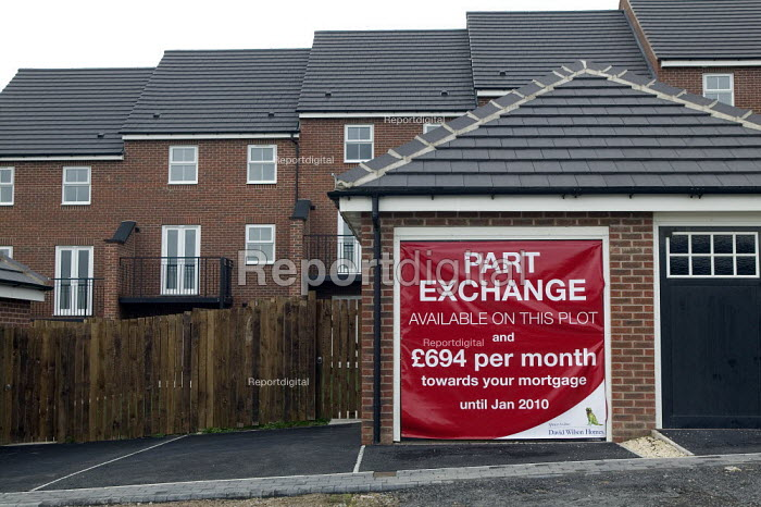 Part exchange incentive. Unsold houses, New Forest Village, Oulton, Leeds - John Harris - 2008-10-16