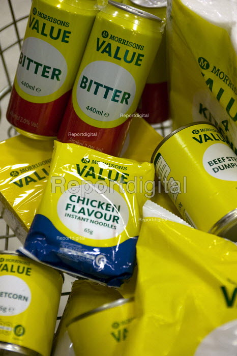 Morrisons Value range, low priced products which are popular with customers in a recession. - John Harris - 2008-10-08