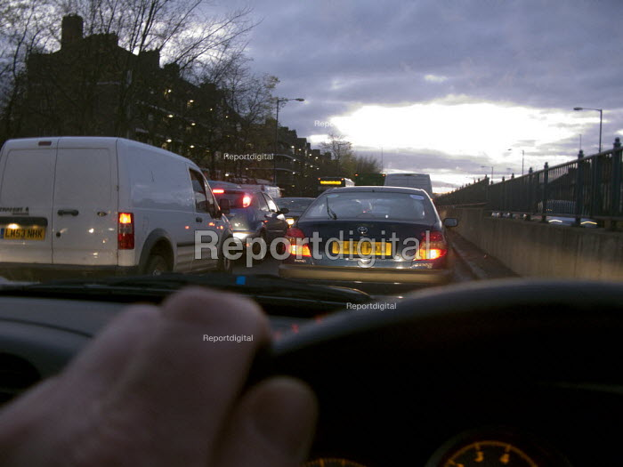 Driving in congested traffic on the way out of London - John Harris - 2008-10-21