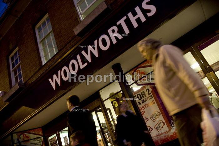 A branch of Woolworths in the High Street, Stratford on Avon, Warwickshire. - John Harris - 2008-11-20