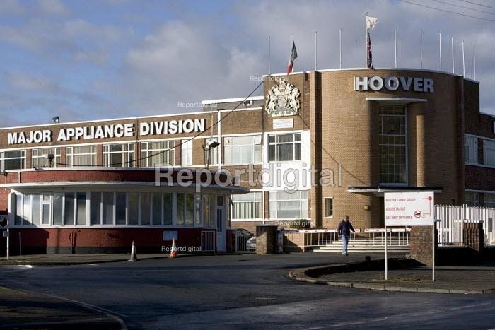 Hoover factory, Merthyr Tydfil where 337 jobs will go as it closes. - John Harris - 2008-12-10