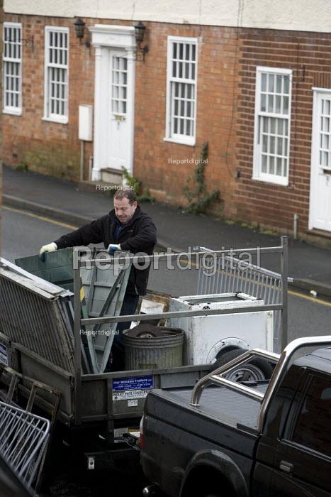 Collecting scrap metal. - John Harris - 2009-01-21