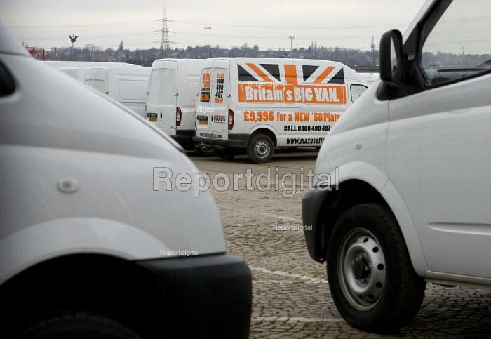 Vans at the LDV factory Washwood Heath, Birmingham - John Harris - 2009-02-23