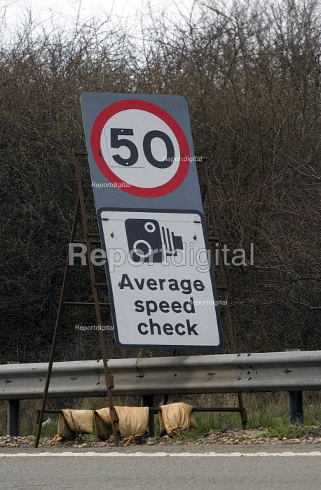 50 mph speed limit and Average Speed camera warning sign. - John Harris - 2009-03-09