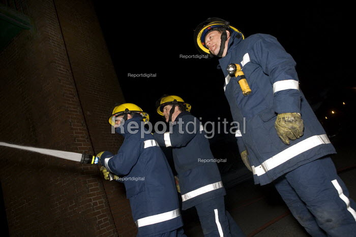 Retained firefighters, Risca fire station. South Wales - John Harris - 2009-03-26