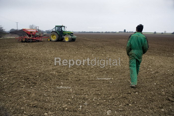 Drilling wheat on a farm in Lincolnshire - John Harris - 2009-03-18
