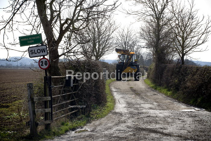 Tractor on a farm in Warwickshire - John Harris - 2009-03-11