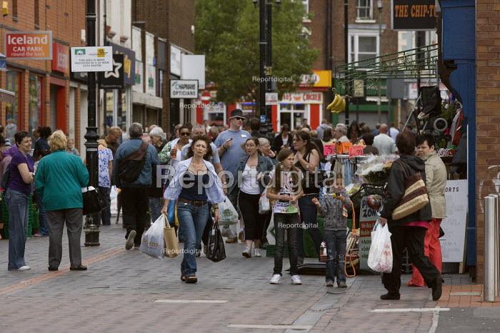 Shopping in Wednesbury town centre. - John Harris - 2009-07-18