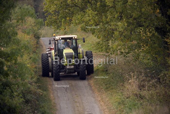 Drilling or sowing Barley seeds on a farm in Rutland - John Harris - 2009-10-02