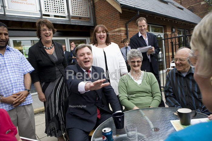 Ed Balls launch of leadership campaign, Nottingham. Talking to local Labour Party members. - John Harris - 2010-05-20