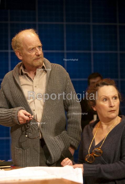 Ian McDiarmid as Galileo and Sadie Shimmin as Mrs Sarti in A Life of Galileo. RSC, Swan, Stratford-upon-Avon - John Harris - 2013-02-07