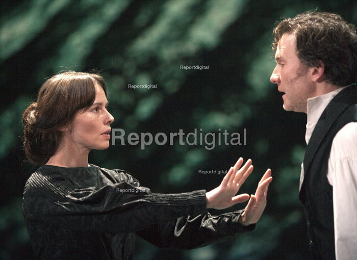 Jo Stone-Fewings as Leontes and Tara Fitzgerald as Hermione in The Winters Tale. RSC, Swan, Stratford-upon-Avon - John Harris - 2013-01-28