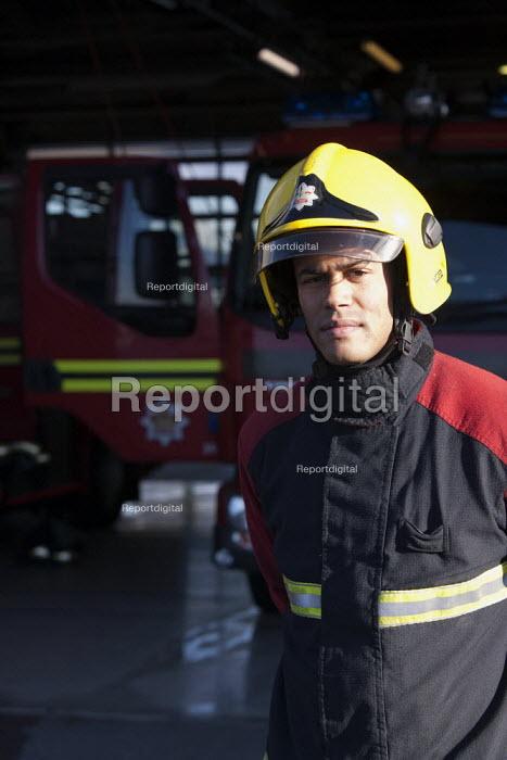 David Pitt, FBU firefighter West Bromwich Fire Station. - John Harris - 2014-02-07