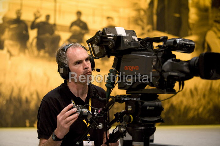 TV camera operator filming Liberal Party Conference. - John Harris - 2012-01-27