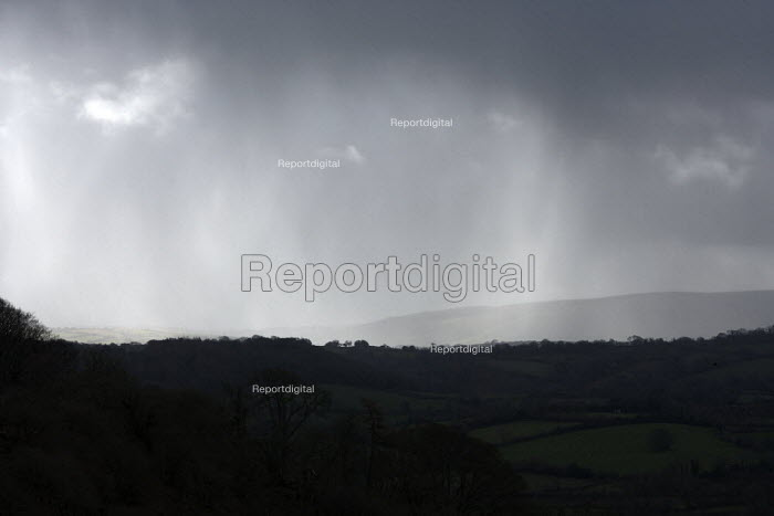 Rain over Dartmoor, Devon - John Harris - 2014-02-25