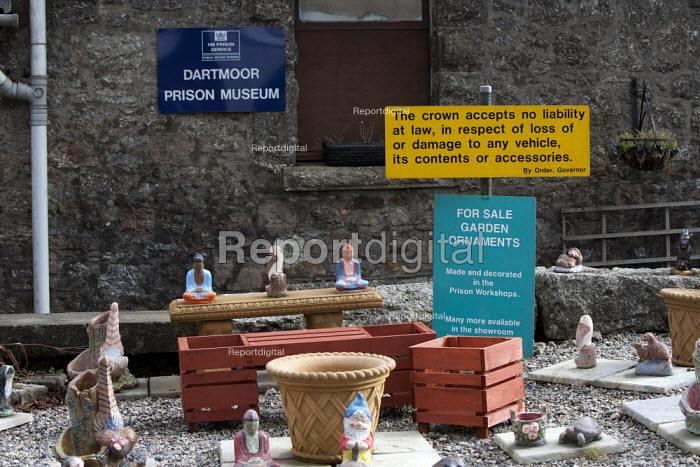 Dartmoor Prison Museum, Garden ornaments made by prisoners for sale, Devon - John Harris - 2014-02-26