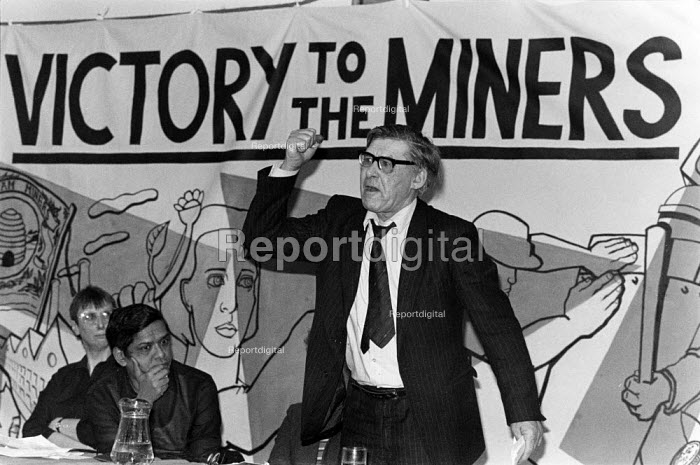 Mick McCarthy NUM speaking, victory to the miners, Bristol West, Communist Party meeting - Pete Maxey - 1985-02-06
