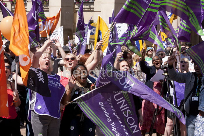 Public sector workers strike over pay, pensions and workload, Strike rally, Victoria Square, Birmingham - John Harris - 2014-07-10