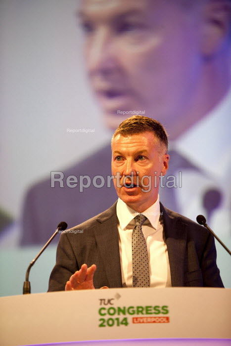 Michael Clancy Prospect speaking, TUC, Liverpool 2014 - John Harris - 2014-09-09