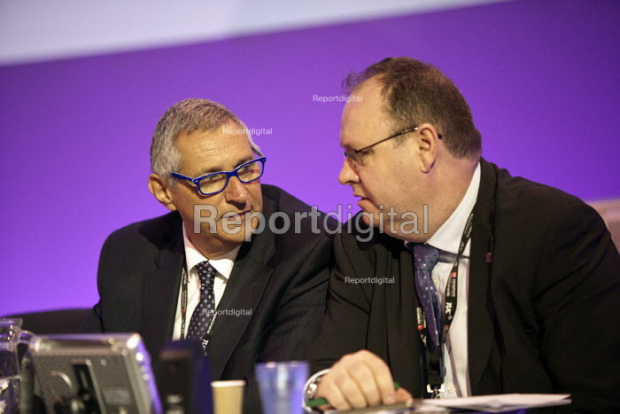 Eddie Saville Gen Sec HCSA and Dave Penman FDA Gen Sec, TUC, Liverpool 2014 - John Harris - 2014-09-09