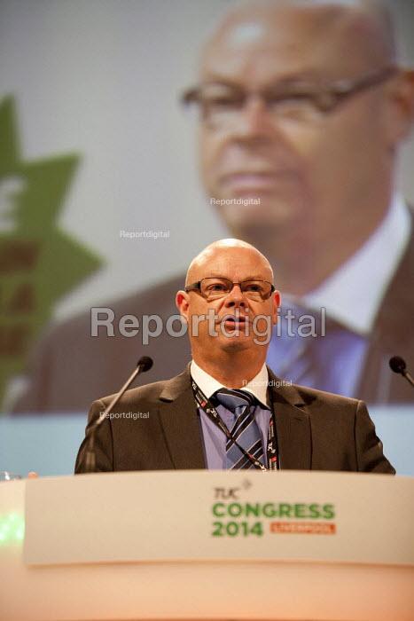 Stephen Gillian POA gen sec speaking, TUC, Liverpool 2014 - John Harris - 2014-09-10