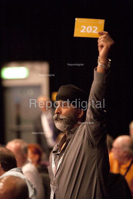 CWU card vote TUC, Liverpool 2014 - John Harris - 2014-09-10