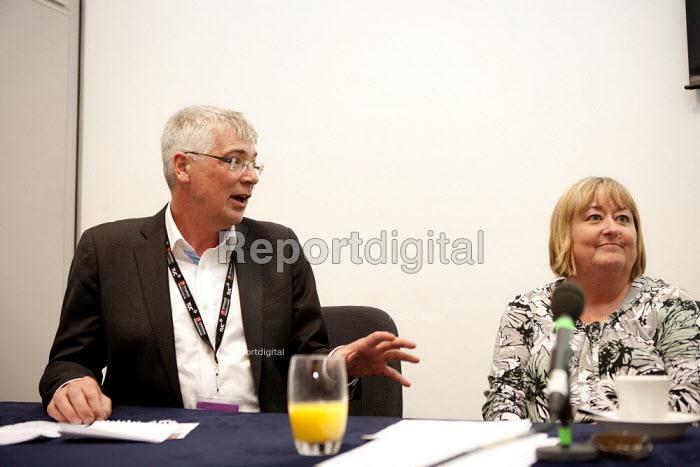 Paul Hackett, The Smith Institute, Denise McGuire Prospect, Prospect Fringe meeting TUC, Liverpool 2014 - John Harris - 2014-09-09