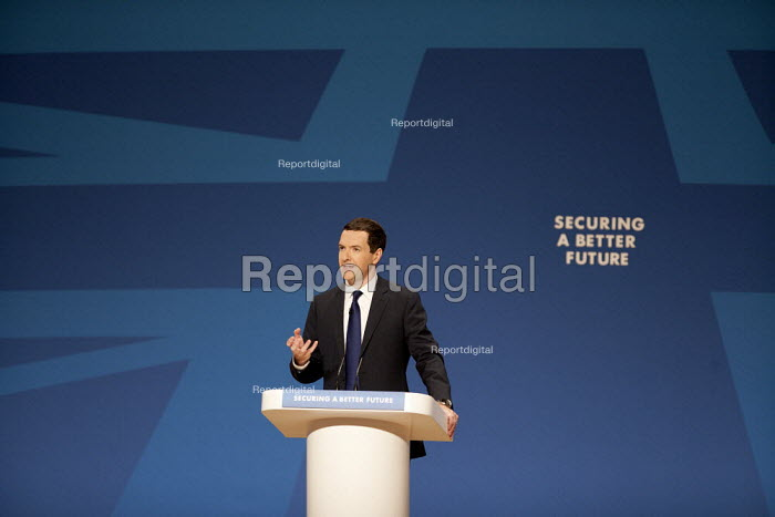 George Osborne MP speaking, Conservative Party Conference, The ICC Birmingham - John Harris - 2014-09-29