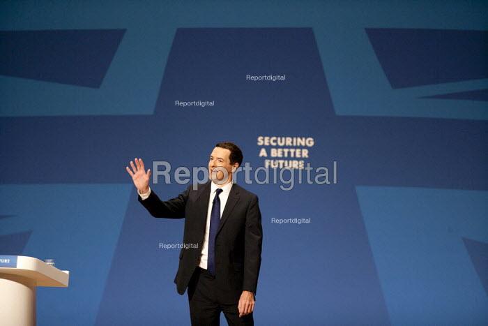 George Osborne MP speaking, Conservative Party Conference, The ICC Birmingham - John Harris - 2014-09-29