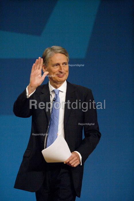 Philip Hammond MP speaking, Conservative Party Conference, ICC Birmingham - John Harris - 2014-10-01