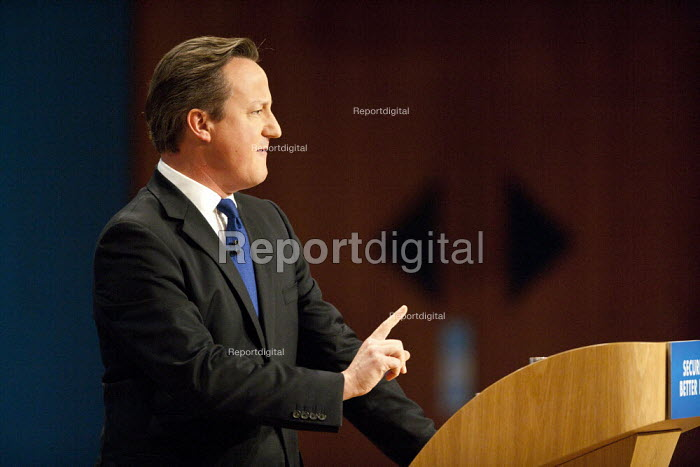David Cameron MP speaking, Conservative Party Conference, ICC Birmingham - John Harris - 2014-10-01