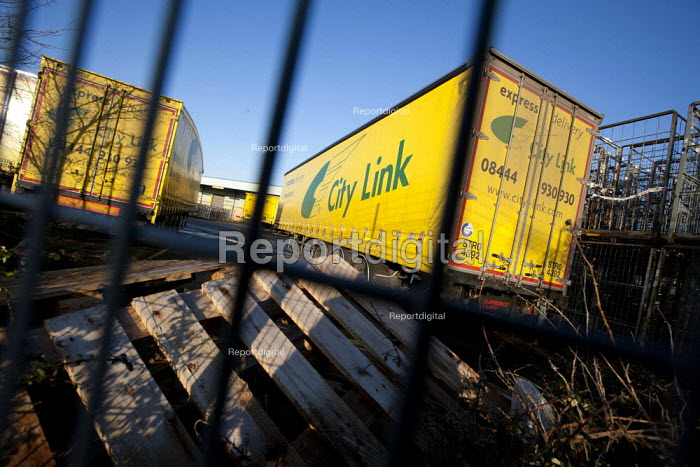 Empty City Link trailers, closed distribution centre, Coventry - John Harris - 2014-12-30