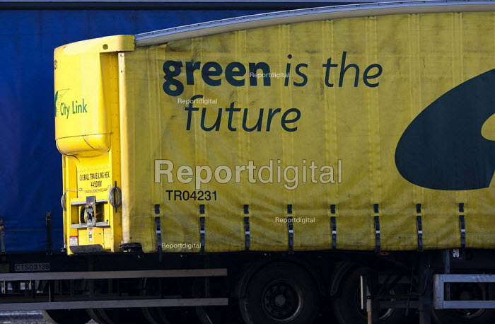 Green is the Future, Empty City Link trailers, closed distribution centre, Coventry - John Harris - 2013-04-29