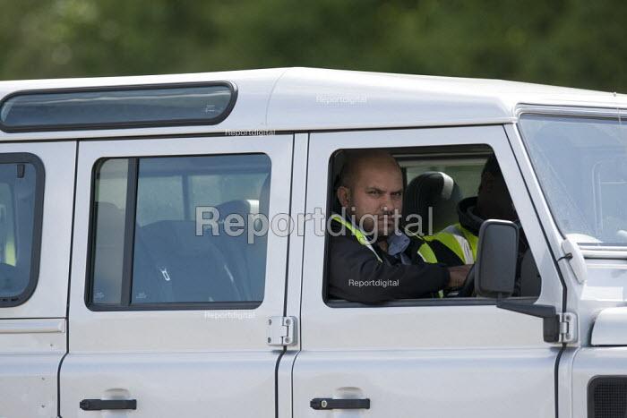 Security guard. Jaguar Land Rover Engine Manufacturing Center UK, i54 South Staffordshire business park - John Harris - 2015-05-28