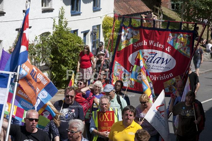 USDAW, Tolpuddle Martyrs' Festival. Dorset - John Harris - 2015-07-19