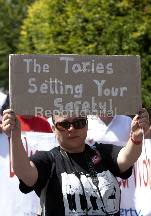 The Tories are selling your safety! Tolpuddle Martyrs' Festival. Dorset - John Harris - 2015-07-19