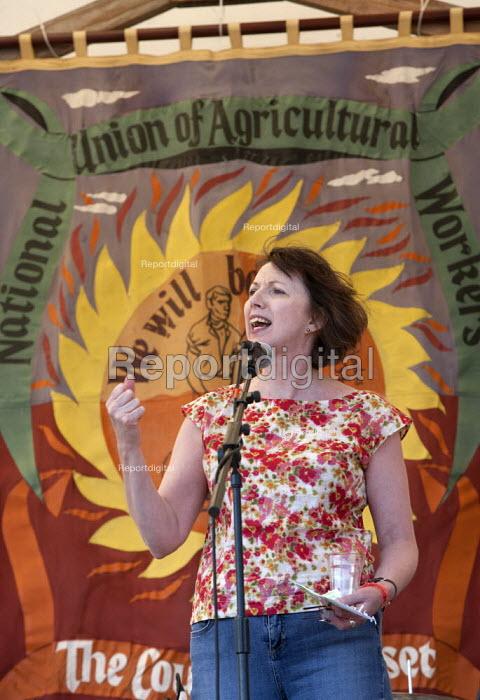 Frances O'Grady speaking (TUC Gen Sec) Tolpuddle Martyrs' Festival. Dorset - John Harris - 2015-07-19